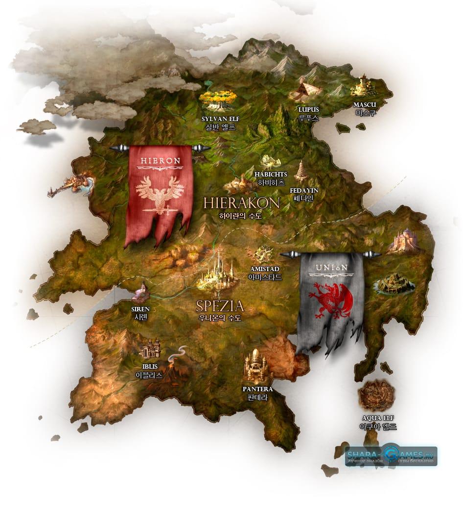 Карта Bless Online