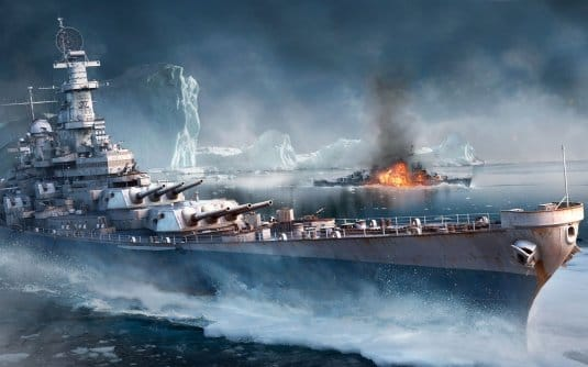 Линкор Iowa — обои World of Warships #9