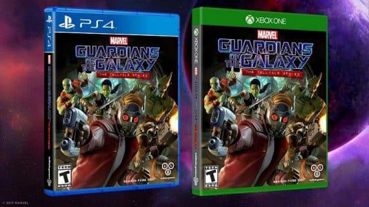 Изображение коробочной версии игры Guardians of the Galaxy