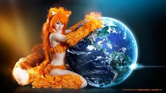 Обои: косплеи Enji Night № 4. Firefox
