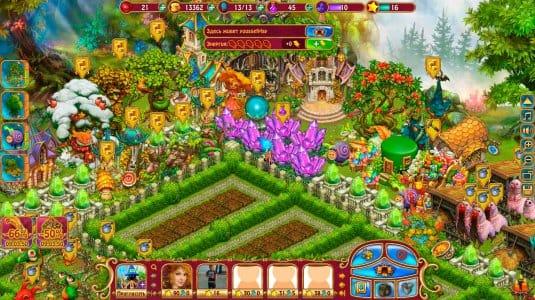 Магическая ферма в игре «Чародеи. Сказочная ферма»