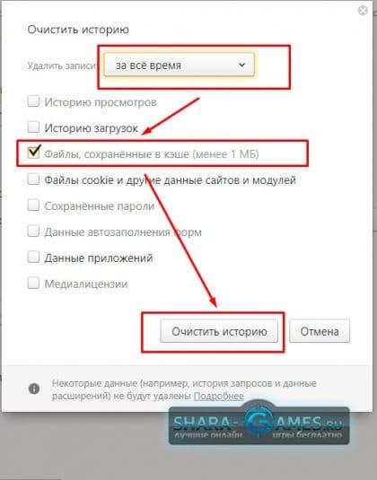 Очистить историю Яндекс.Браузер