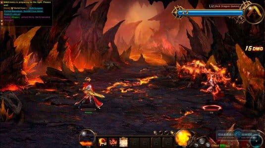 По огненным локациям Dragon Awaken