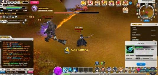 Бой в игре Sword Art Online Legend
