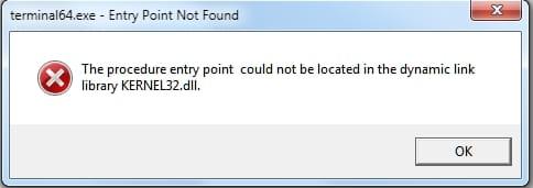 Возникновение ошибки kernel32.dll