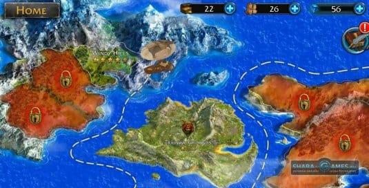 Карта с землями
