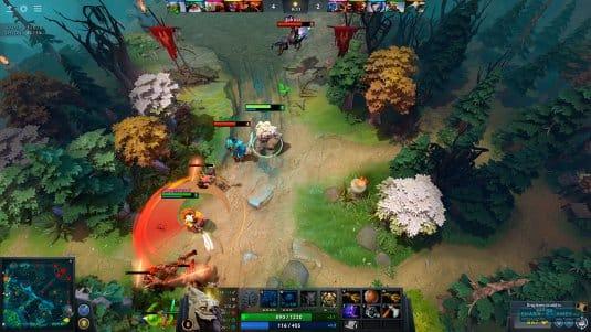 Скриншот игрового процесса  DotA 2, игры MOBA (Steam)
