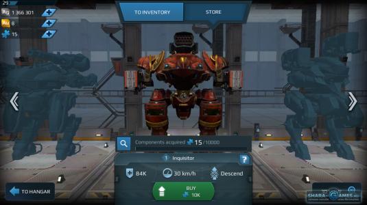 Сборка робота в War Robots